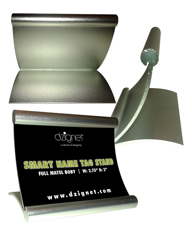 table flyer stands aluminum metal table sign holder